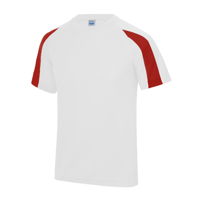 Contrast Cool T In Arctic White/Fire Red