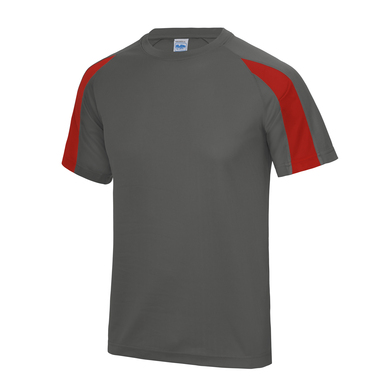 Contrast Cool T In Charcoal/Fire Red