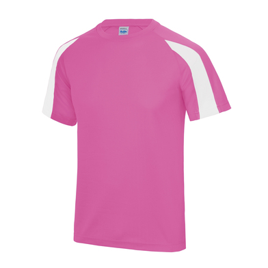 Contrast Cool T In Electric Pink/Arctic White