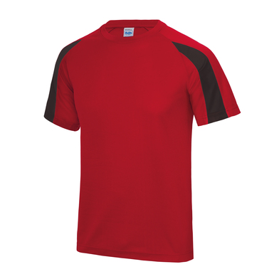 Contrast Cool T In Fire Red/Jet Black
