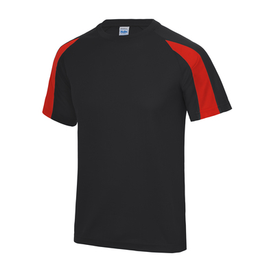 Contrast Cool T In Jet Black/Fire Red