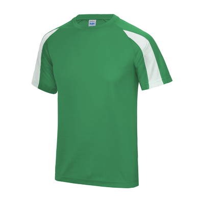 Contrast Cool T In Kelly Green/Arctic White