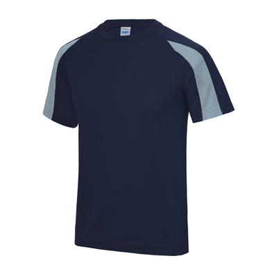 Contrast Cool T In Oxford Navy/Sky Blue