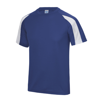 Contrast Cool T In Royal Blue/Arctic White