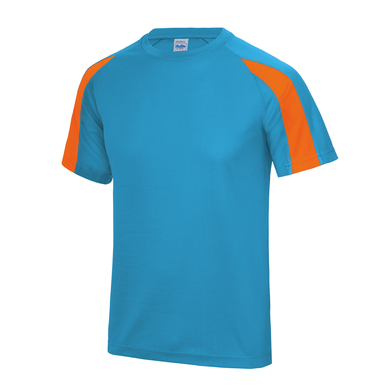 Contrast Cool T In Sapphire Blue/Electric Orange
