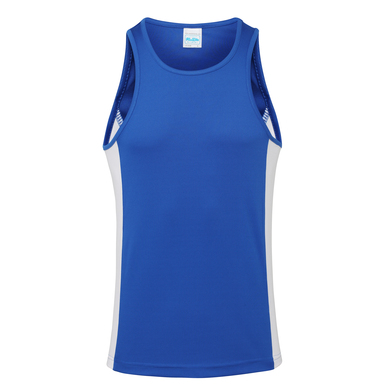Cool Contrast Vest In Royal Blue/Arctic White