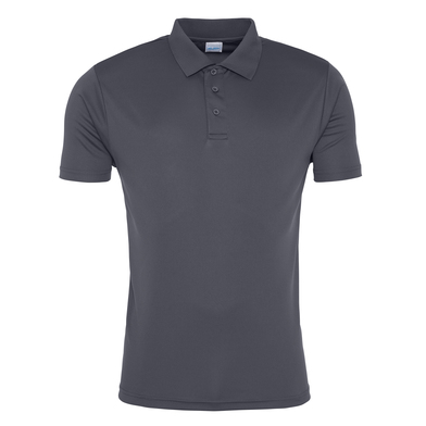 Cool Smooth Polo In Charcoal