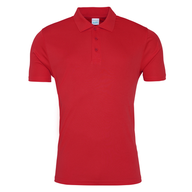 Cool Smooth Polo In Fire Red