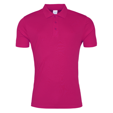 Cool Smooth Polo In Hot Pink