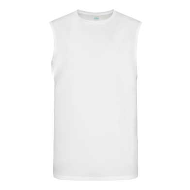 Cool Smooth Sports Vest In Arctic White