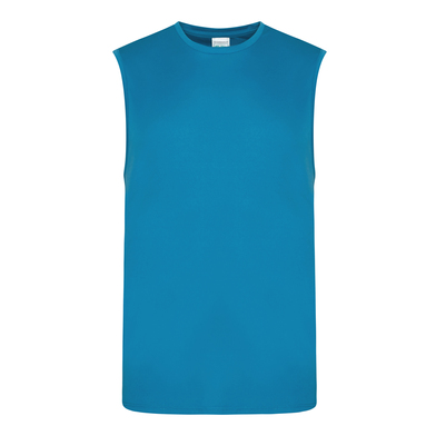 Cool Smooth Sports Vest In Sapphire Blue