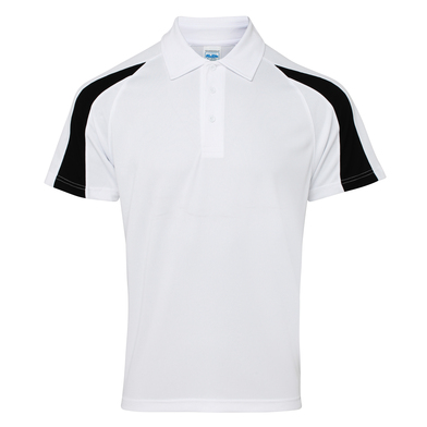 Contrast Cool Polo In Arctic White/Jet Black