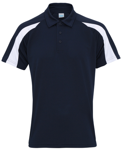 Contrast Cool Polo In French Navy/Arctic White