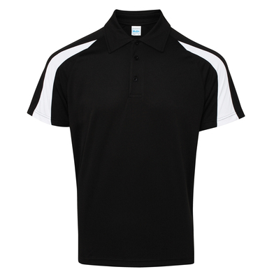 Contrast Cool Polo In Jet Black/Arctic White