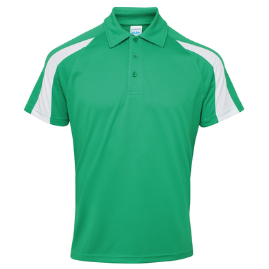 Contrast Cool Polo In Kelly Green/Arctic White