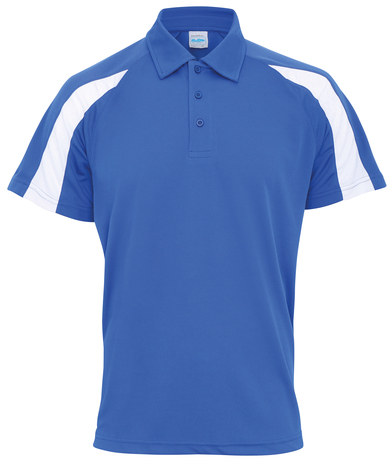 Contrast Cool Polo In Royal Blue/Arctic White