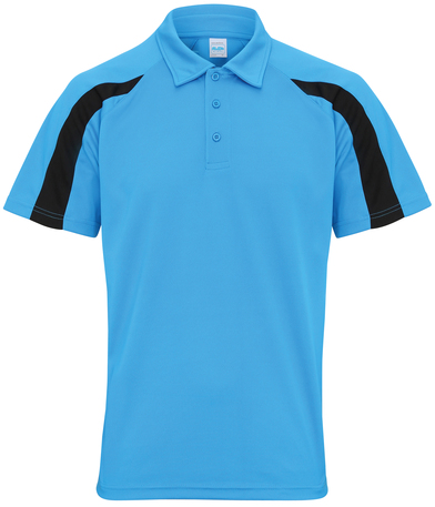 Contrast Cool Polo In Sapphire Blue/Jet Black