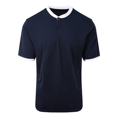Cool Stand Collar Sports Polo In French Navy/Arctic White