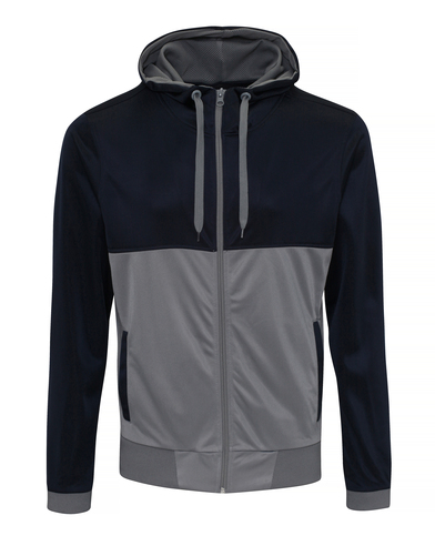 Cool Retro Track Zoodie In French Navy/Sports Grey