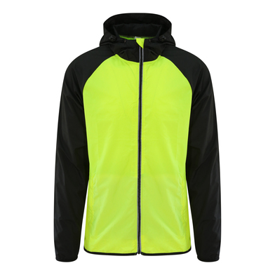 Cool Contrast Windshield Jacket In Electric Yellow/Jet Black