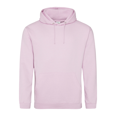 College Hoodie In Baby Pink