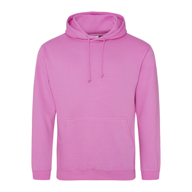 College Hoodie In Candyfloss Pink