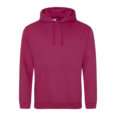 College Hoodie In Cranberry