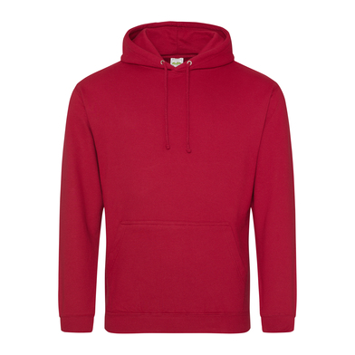 College Hoodie In Fire Red