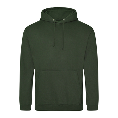College Hoodie In Forest Green