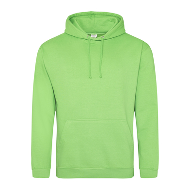 College Hoodie In Lime Green