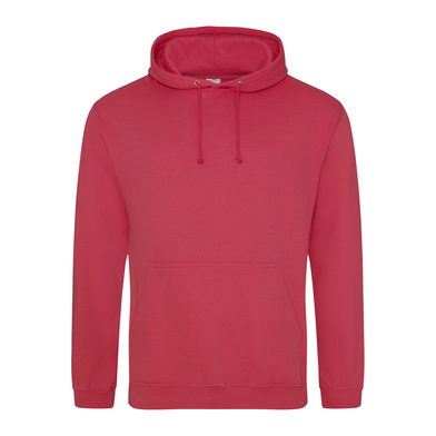 College Hoodie In Lipstick Pink