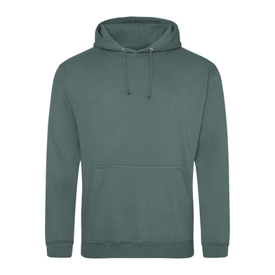 College Hoodie In Moss Green