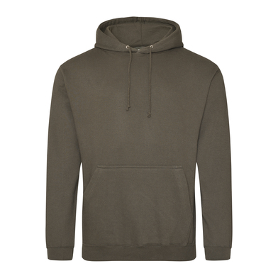 College Hoodie In Olive Green