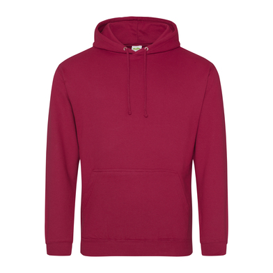 College Hoodie In Red hot Chilli