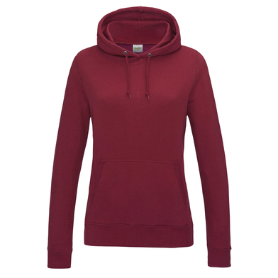 Girlie College Hoodie In Red hot Chilli