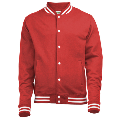 College Jacket In Fire Red