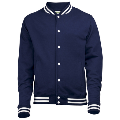 College Jacket In Oxford Navy