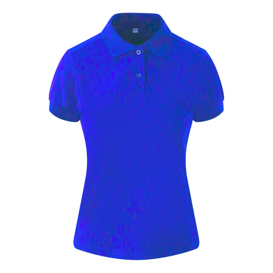 Girlie Stretch Polo In Royal