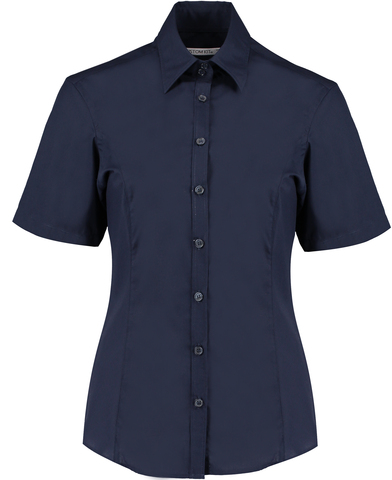 Business Blouse Short-sleeved (tailored Fit) In Dark Navy