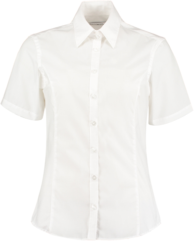 Business Blouse Short-sleeved (tailored Fit) In White
