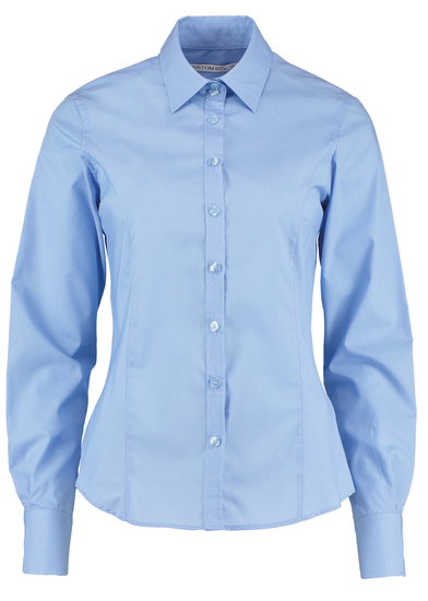 Business Blouse Long-sleeved (tailored Fit) In Light Blue