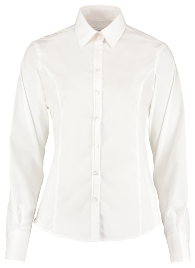 Business Blouse Long-sleeved (tailored Fit) In White