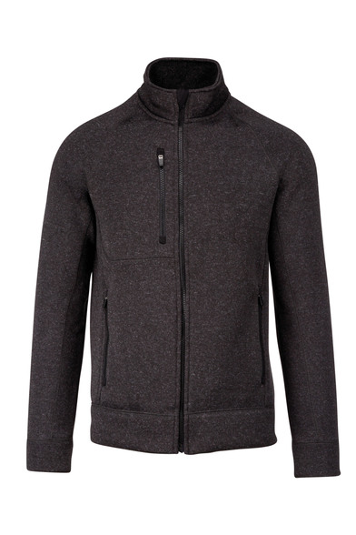 Full-zip Heather Jacket In Dark Grey Melange