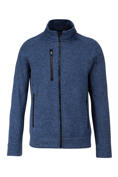 Full-zip Heather Jacket In Navy Melange