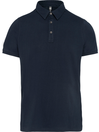 Jersey Knit Polo Shirt In Navy
