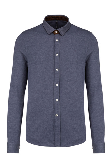 Kariban - Long-sleeved Jacquard Knit Shirt
