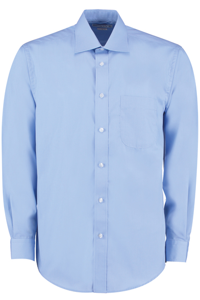 Business Shirt Long-sleeved (classic Fit) In Light Blue
