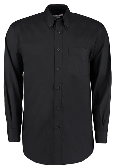 Corporate Oxford Shirt Long-sleeved (classic Fit) In Black