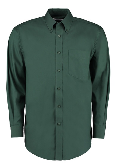 Corporate Oxford Shirt Long-sleeved (classic Fit) In Bottle Green