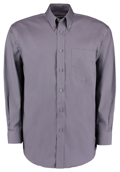 Corporate Oxford Shirt Long-sleeved (classic Fit) In Charcoal